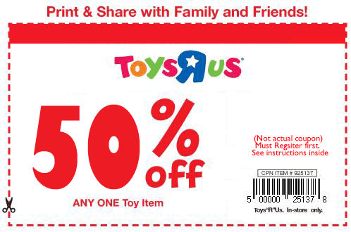 photo about Printable Toys R Us Coupons referred to as Toys R Us Discount coupons - Household
